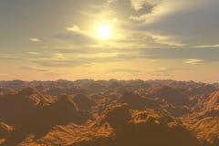A brand new day!. Beautiful Sunshine on rocky mountain Stock Image