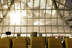 A brand new departure lounge at the airport Stock Image