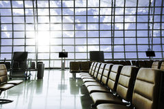 A brand new departure lounge at the airport Royalty Free Stock Photos