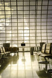 A brand new departure lounge at the airport Stock Photo