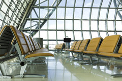 A brand new departure lounge at the airport Stock Photography