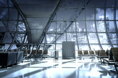 A brand new departure lounge at the airport Stock Photos