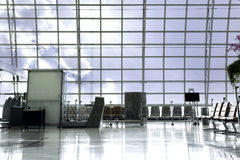 A brand new departure lounge at the airport Royalty Free Stock Photo