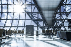 A brand new departure lounge at the airport Royalty Free Stock Photography