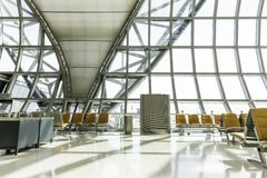 A brand new departure lounge at the airport Royalty Free Stock Image