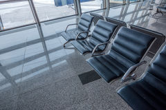 Brand new departure lounge at airport Stock Photos