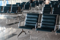 Brand new departure lounge at airport Royalty Free Stock Photos