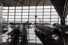 Brand new departure lounge at airport Stock Images