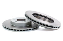 Brand new disc brake rotor Stock Image