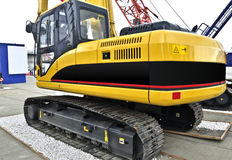 Brand new tracked excavator Stock Photo