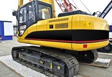 Brand new tracked excavator Stock Photo