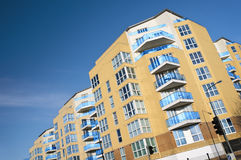 Brand new executive apartments. Modern, new executive apartment building in London stock photography