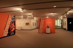 Brand new exhibit representing Native American art,Albany's State Museum,New York,2016 Royalty Free Stock Photo