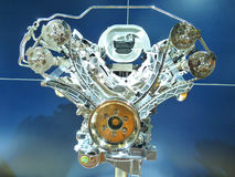 Brand New Exposed Motor Engine. Brand New Exposed Engine of a motor vehicle Stock Photo