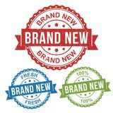 Brand new, fresh, vector badge label stamp tag for product, marketing selling online shop or web e-commerce royalty free illustration