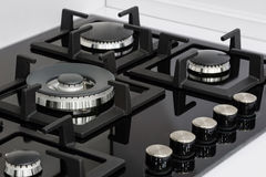 Brand new gas stove closeup Stock Photography