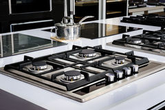Brand new gas stove Stock Image