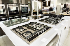 Brand new gas stoves and ovens for sale Stock Photo