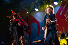 The Brand New Heavies group performs at Usadba Jazz Festival Royalty Free Stock Photo