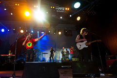 The Brand New Heavies group performs at Usadba Jazz Festival Royalty Free Stock Image