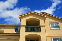 Brand New House. Close up of a brand new house Royalty Free Stock Image