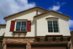 Brand New House. Close up of a brand new house Stock Images