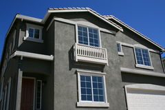 Brand New House. Close up of a brand new house Stock Photo