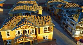 Brand New Houses Under Construction Royalty Free Stock Photos