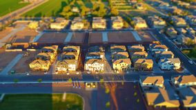 Brand New Houses Under Construction - Miniature World (Tilt-Shift) Effect Royalty Free Stock Images