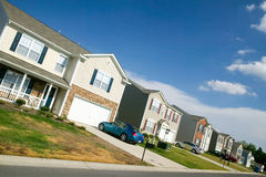 Brand new housing development near Charlotte, North Carolina Royalty Free Stock Photography