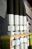 Brand new hydraulic hoses Royalty Free Stock Photo