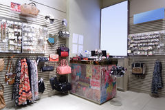 Brand new interior of accessories store Royalty Free Stock Photography