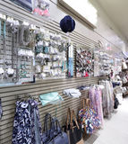 Brand new interior of accessories store Stock Photos
