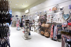 Brand new interior of accessories store Royalty Free Stock Image
