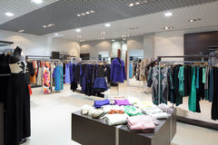 Brand new interior of cloth store Stock Photos