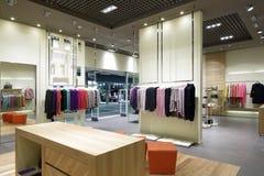 Brand new interior of cloth store Stock Photo