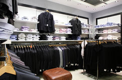 Brand new interior of cloth store Stock Photography