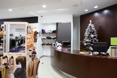 Brand new interior of cloth store Royalty Free Stock Images