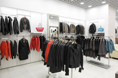 Brand new interior of fur store Royalty Free Stock Photography