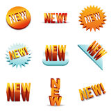 Brand New Item Labels. Royalty Free Stock Image