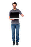Brand new laptop is now out in the market Royalty Free Stock Photography