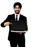 Brand new laptop is out for sale! Stock Photos