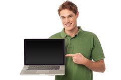The brand new laptop is out for sale Stock Photos