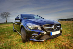 Brand new Mercedes Benz CLA coupe, sideview royalty free stock photos