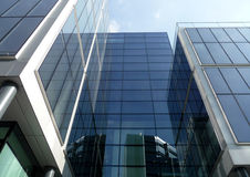 Brand New Modern Glass Building 3. A modern glass building in central London Royalty Free Stock Photography