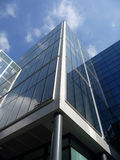 Brand New Modern Glass Building. A view of a modern glass building in central London Royalty Free Stock Photography