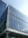 Brand New Modern Glass Building. A view of a modern glass building in central London Stock Photography
