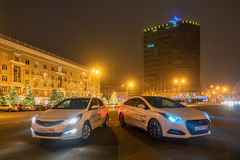 Brand new motor cars Hyundai Royalty Free Stock Photo