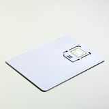 Brand new number. New cell phone sim card packaged in blank 'credit card Royalty Free Stock Images