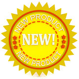 Brand new product seal Stock Image